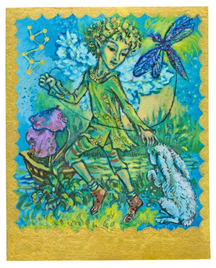 Карточка Tarot - Playfulness иллюстрация штока