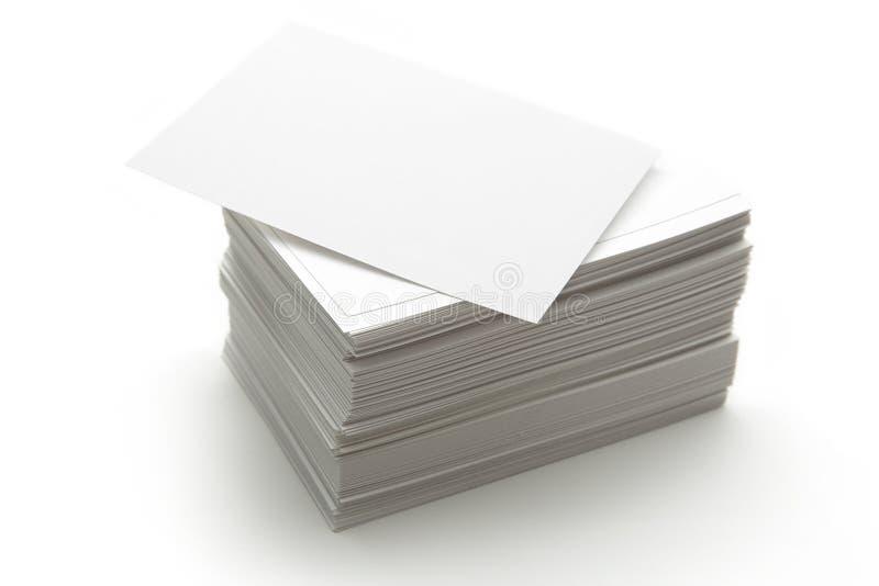Карточки белой бумаги стоковое фото