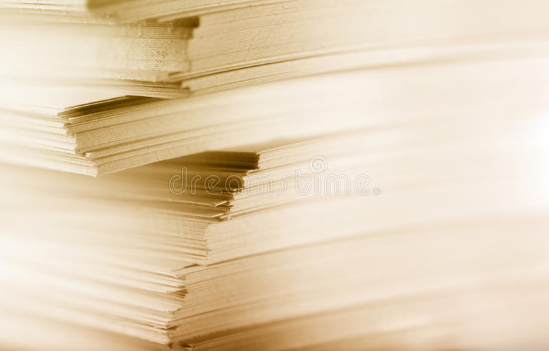 Карточки белой бумаги стоковое изображение rf