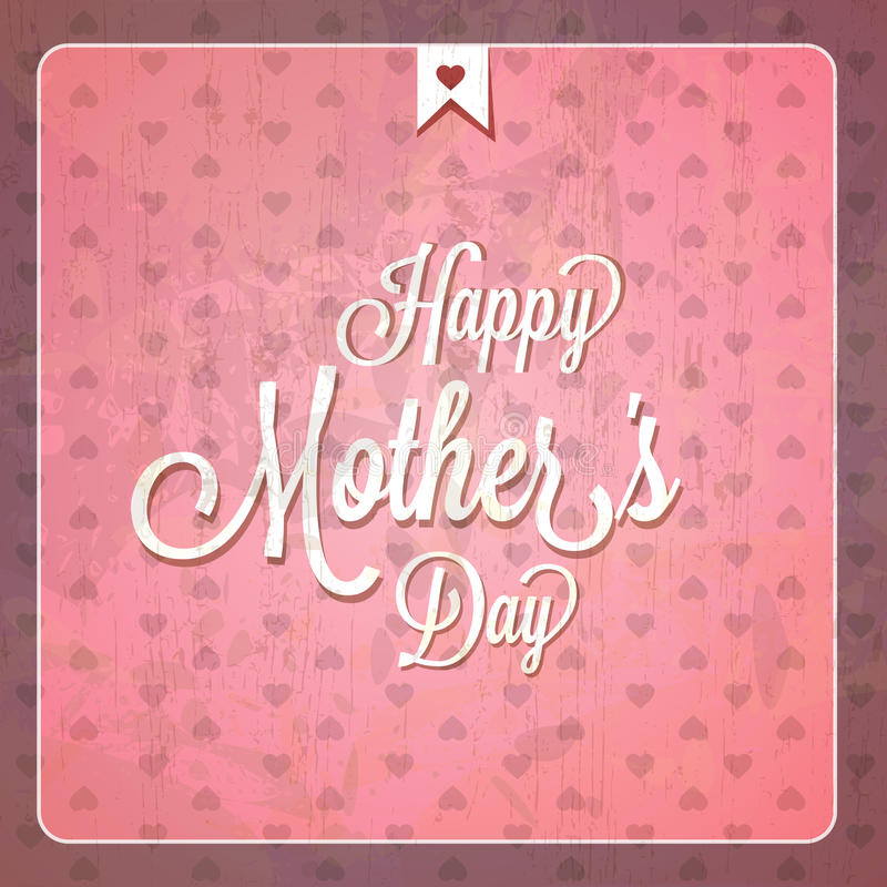 Карточки дня матерей год сбора винограда счастливые бесплатная иллюстрация