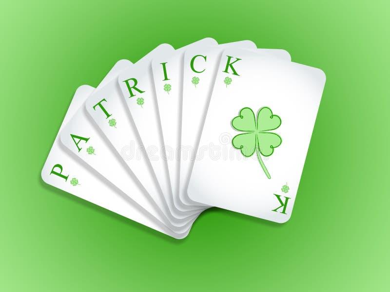 Карточки Патрика играя иллюстрация штока
