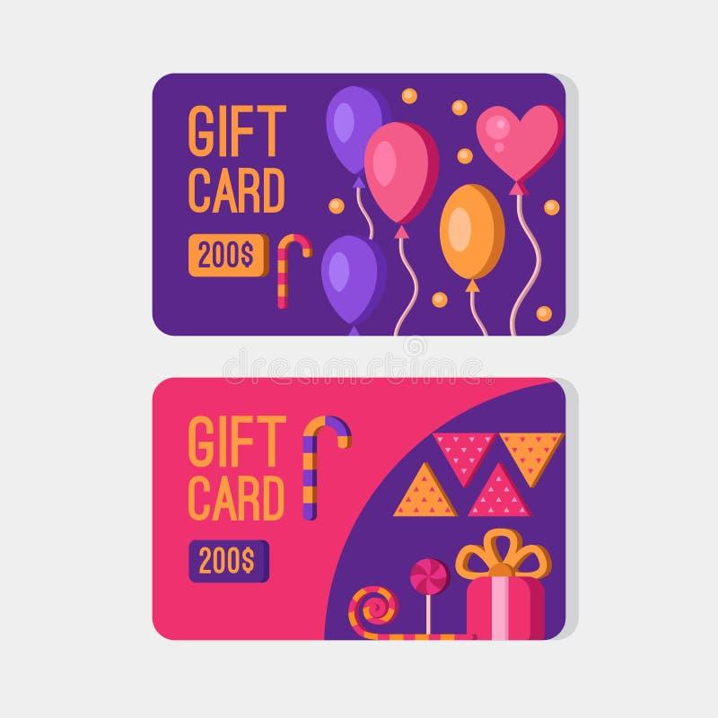 Карточки подарка вектора бесплатная иллюстрация