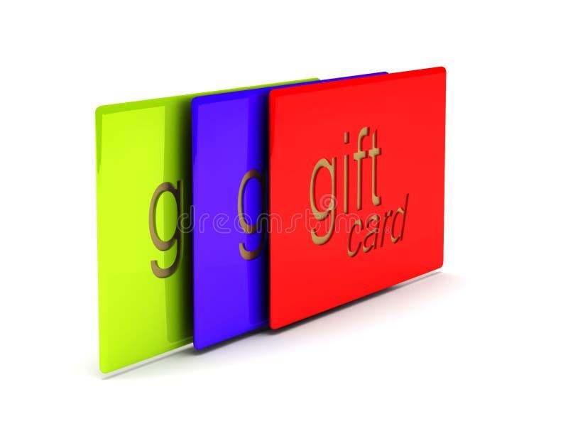 Карточки подарка иллюстрация вектора