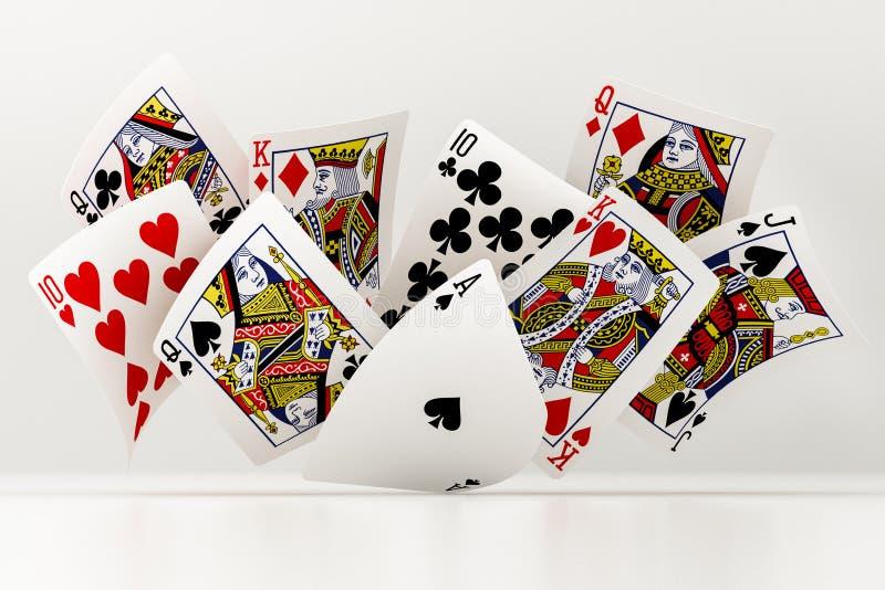 Карточки покера бесплатная иллюстрация