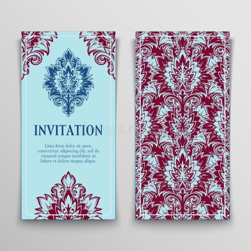 карточки приветствуя комплект иллюстрация вектора
