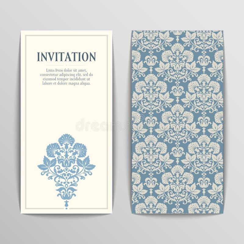 карточки приветствуя комплект бесплатная иллюстрация