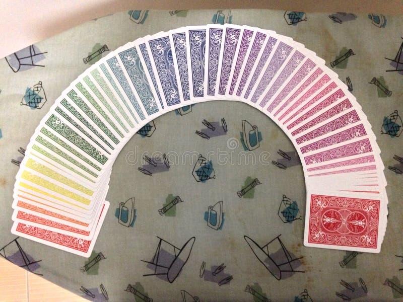 Карточки спектра играя стоковые фотографии rf
