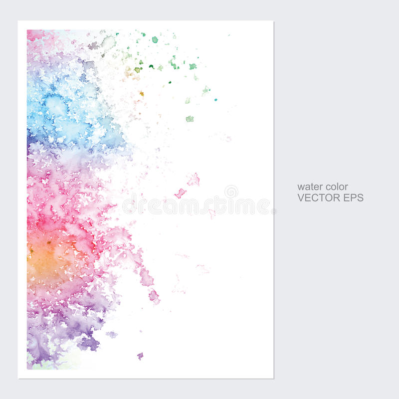 Карточки с вектором дизайна акварели иллюстрация вектора