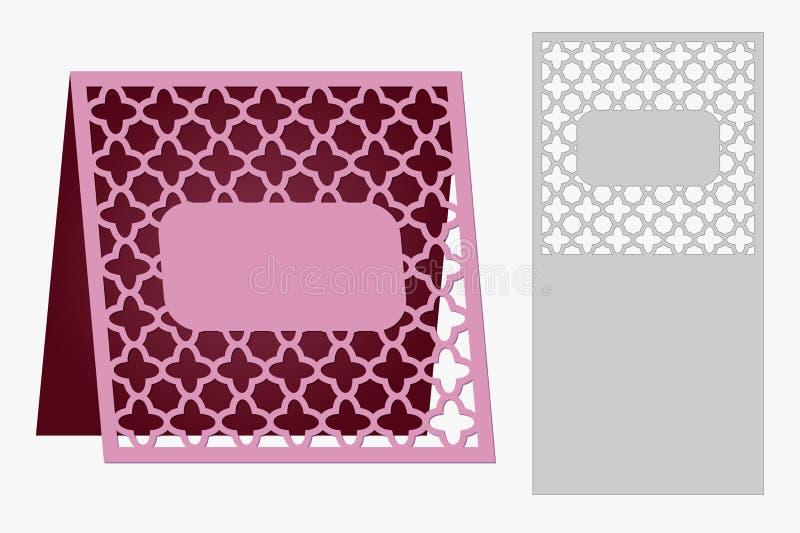 Карточки шаблона, который нужно отрезать экстракласс Польза для поздравлений, приглашений, представлений, свадеб бесплатная иллюстрация