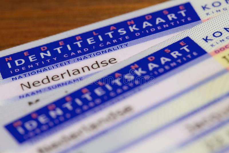 Карточки ID стоковое изображение
