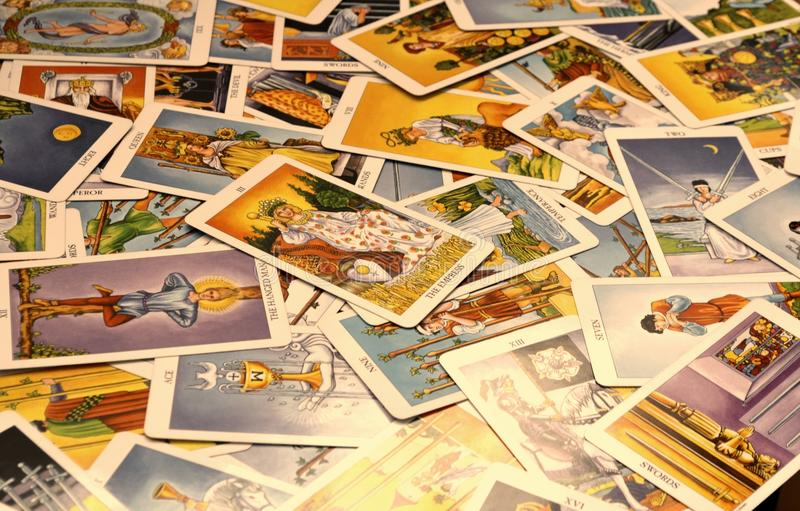 Карточки Tarot 78 чешут императрица стоковые фотографии rf