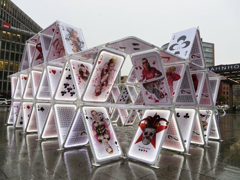 Карточный домик в Берлине стоковая фотография rf