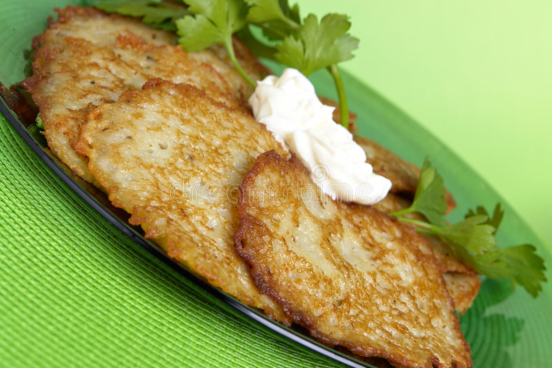 картошка блинчиков стоковое фото rf
