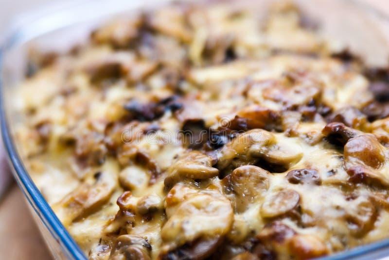 картошка грибов сыра casserole стоковая фотография rf