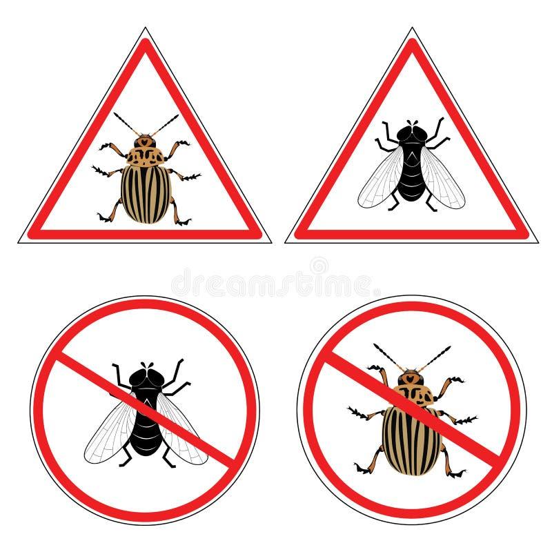 картошка мухы colorado жука иллюстрация штока