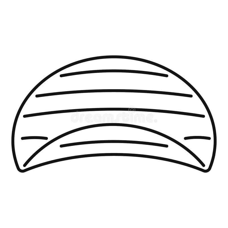 Картошка струилась значок обломоков, стиль плана иллюстрация штока
