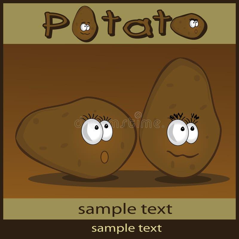 картошка шаржа иллюстрация штока