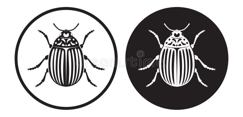 картошка colorado жука иллюстрация штока