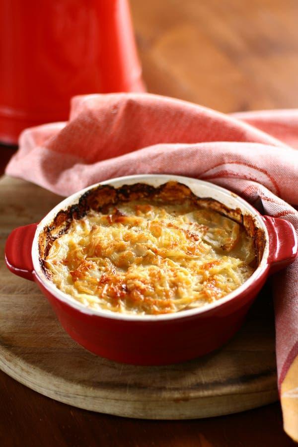 картошка gratin стоковые фото