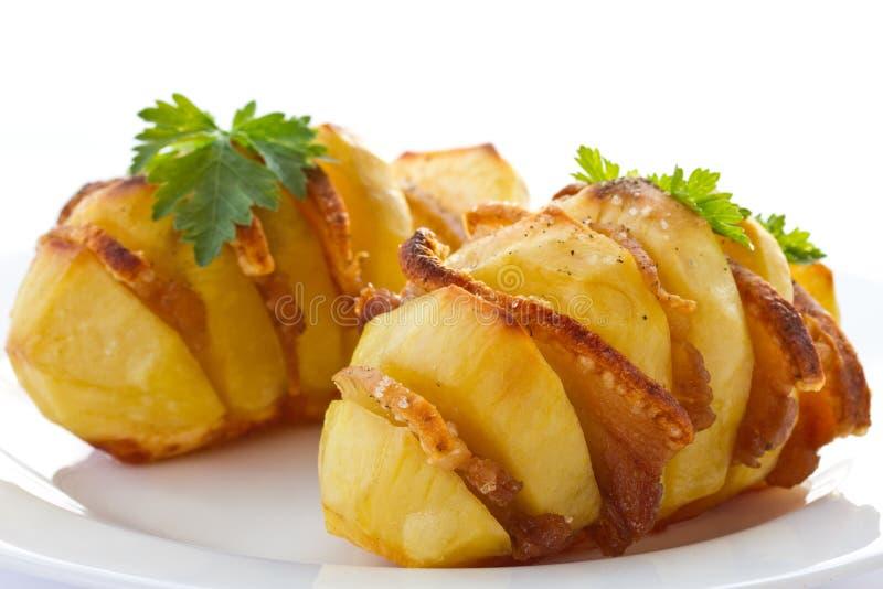 Картошки заполненные с беконом стоковая фотография rf
