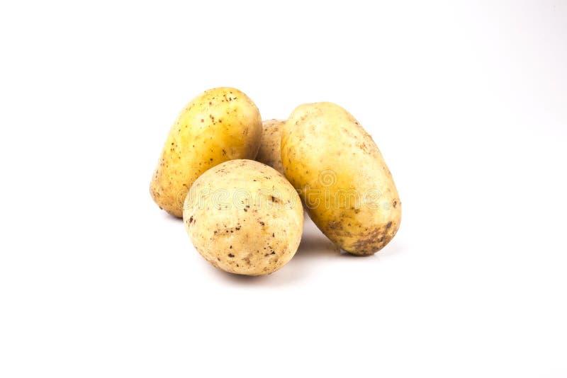 картошки изолированные предпосылкой белые стоковое изображение rf