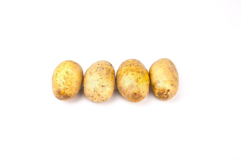 картошки изолированные предпосылкой белые стоковые изображения rf