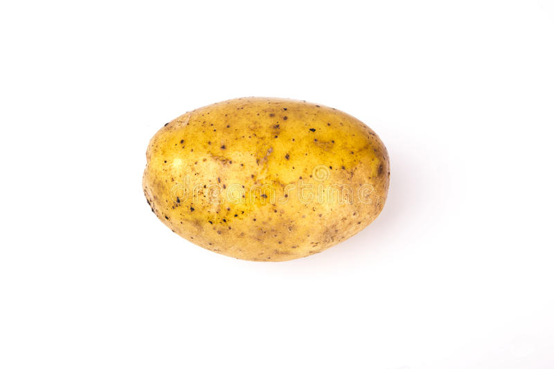 картошки изолированные предпосылкой белые стоковое фото rf