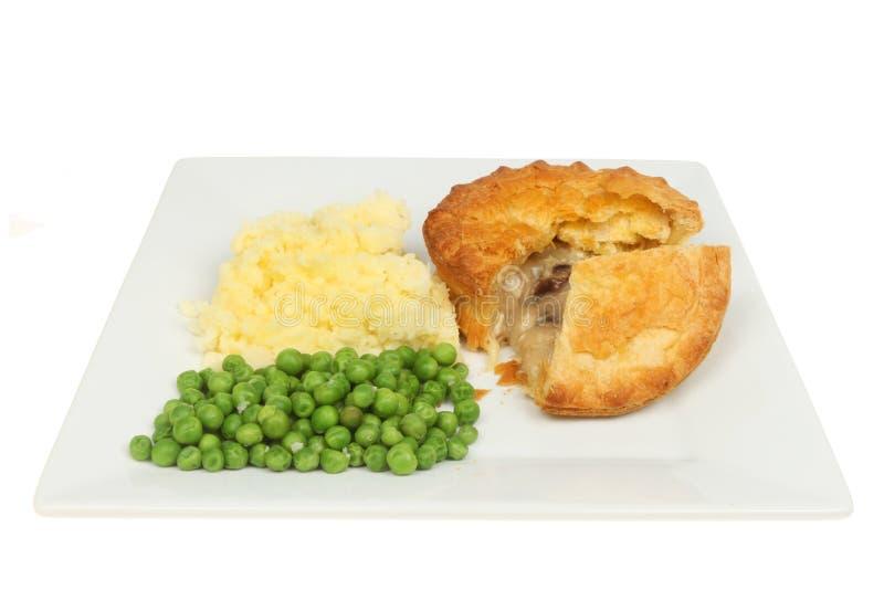 Картошки и горохи пирога цыпленка стоковая фотография rf