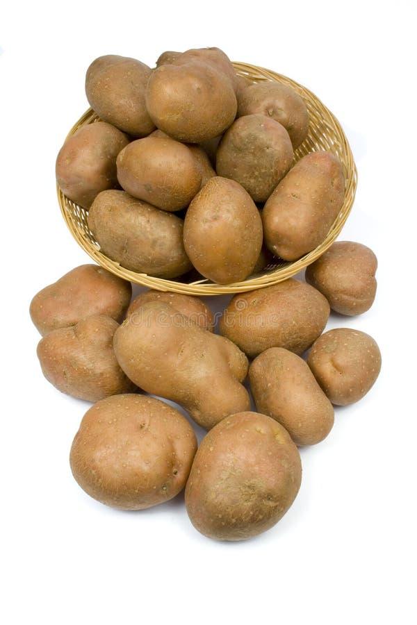 картошки корзины стоковое изображение rf
