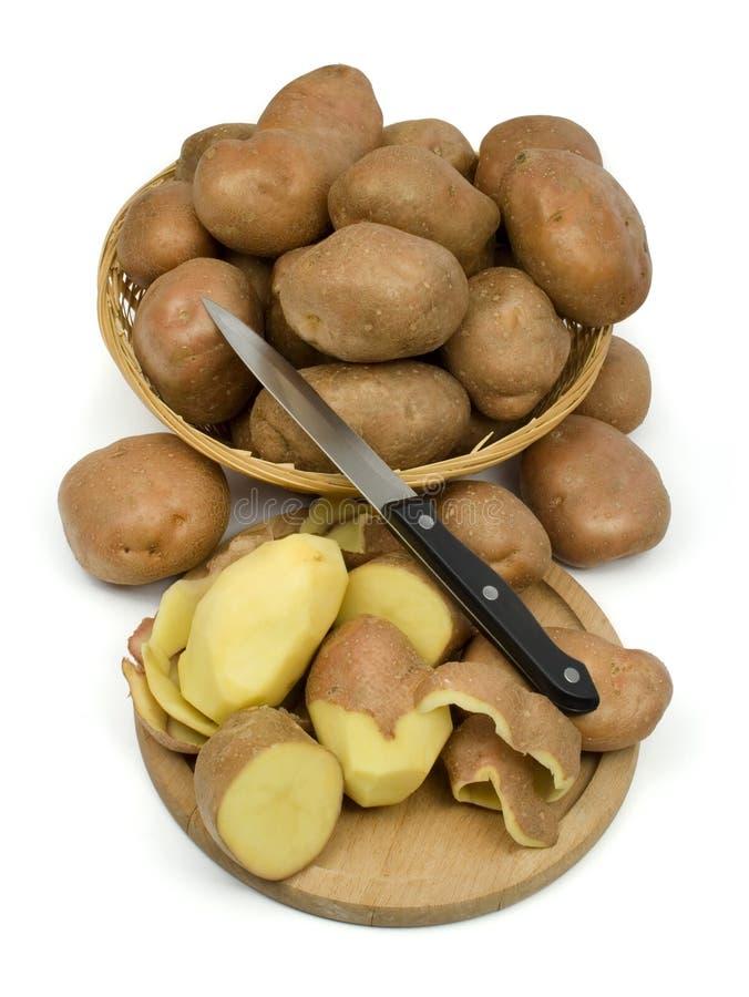 картошки корзины стоковое изображение