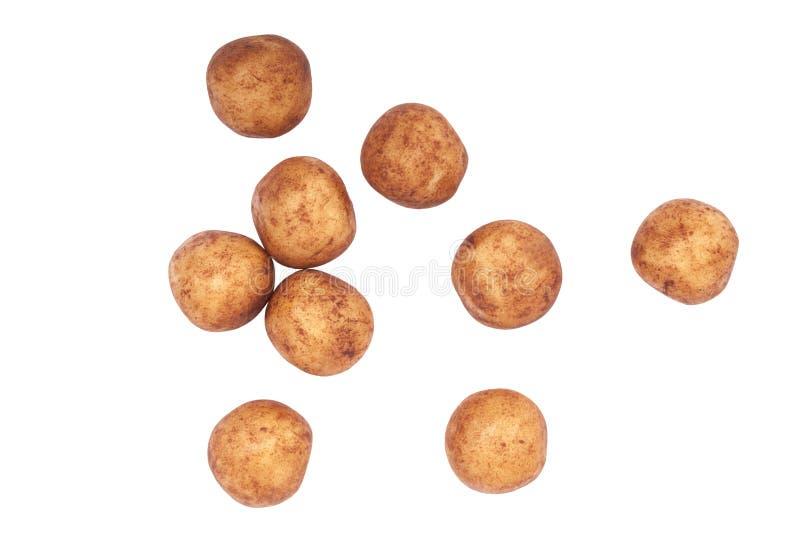 Картошки марципана на белизне стоковое изображение rf