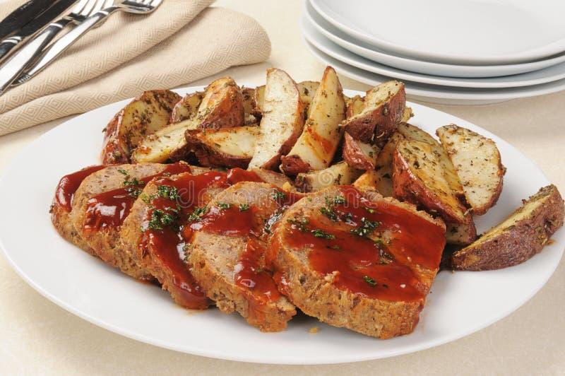 картошки meatloaf стоковые фото