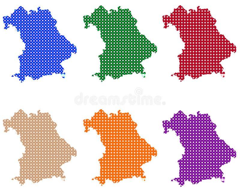 Карты Баварии в кругах иллюстрация штока