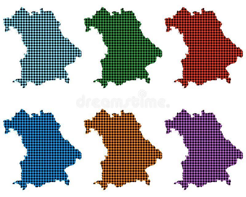 Карты Баварии с небольшими rhombs иллюстрация вектора