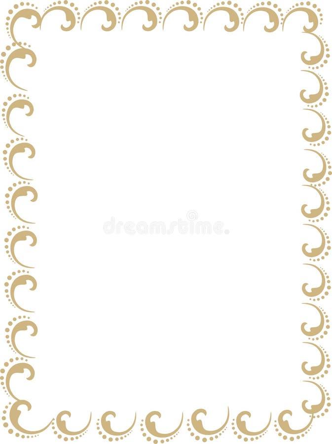 Карты приглашения свадьбы, сертификаты или золотая крышка отчета иллюстрация штока