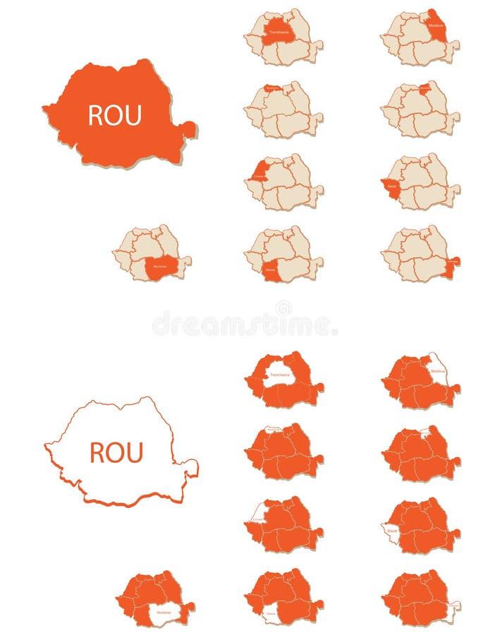 Карты 2 Румынии бесплатная иллюстрация