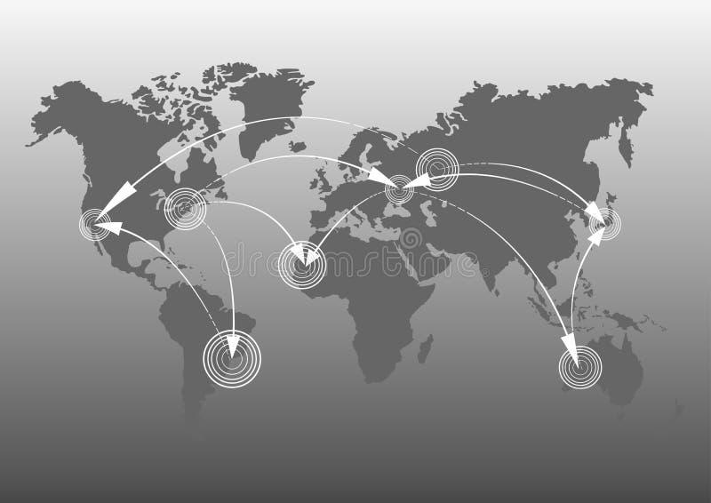 Карты ` s земли карта мира, континенты, иллюстрация вектора стоковое изображение rf