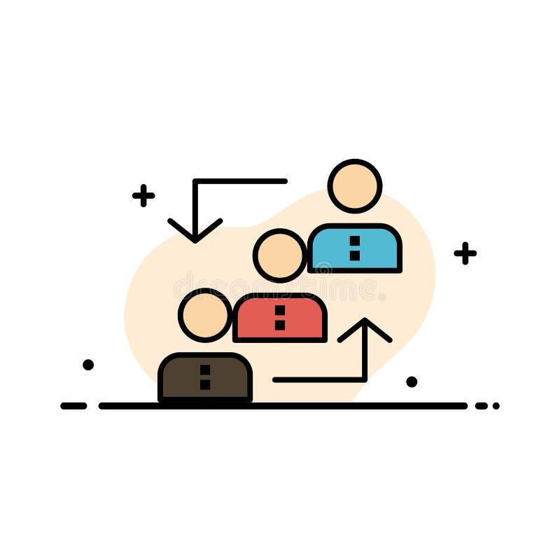 Карьера, выдвижение, работник, лестница, продвижение, штат, линия дела работы плоская заполнила шаблон знамени вектора значка иллюстрация штока