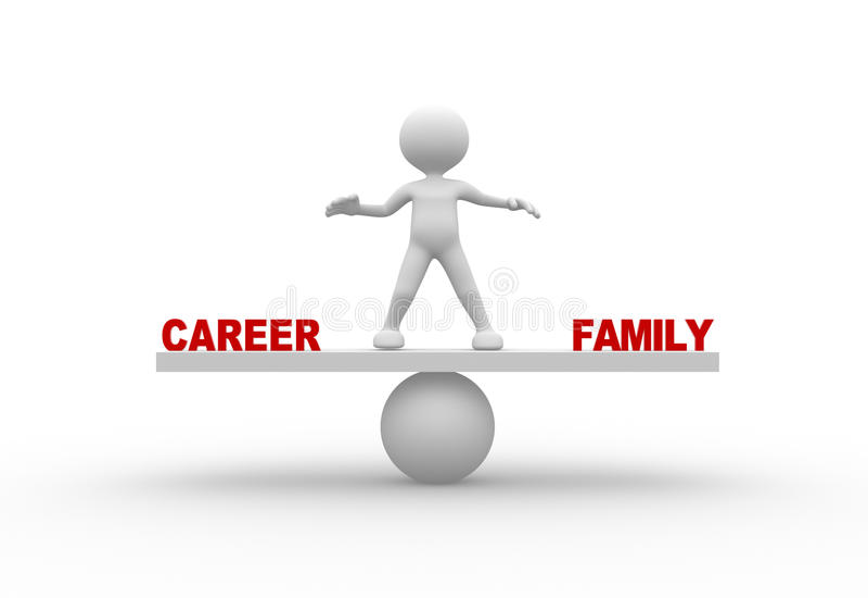 Карьера или семья иллюстрация штока