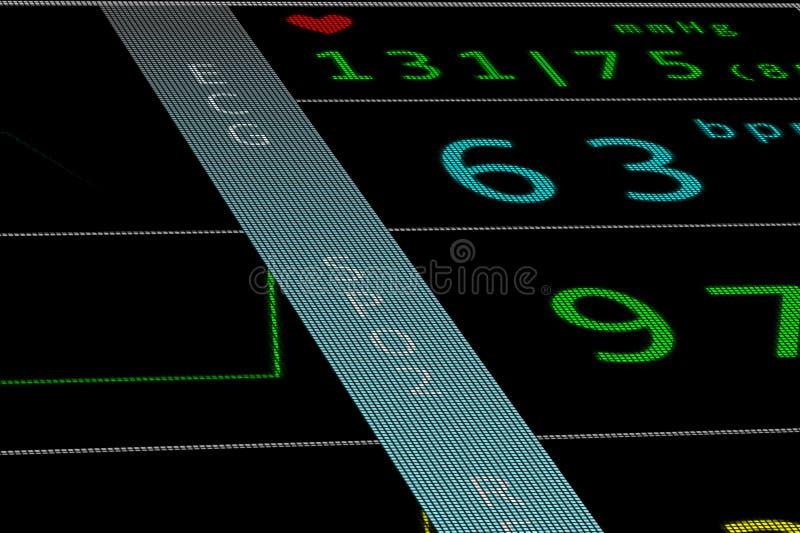 Кардиомонитор 3 HR иллюстрация вектора