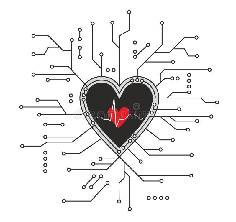 кардиология иллюстрация вектора