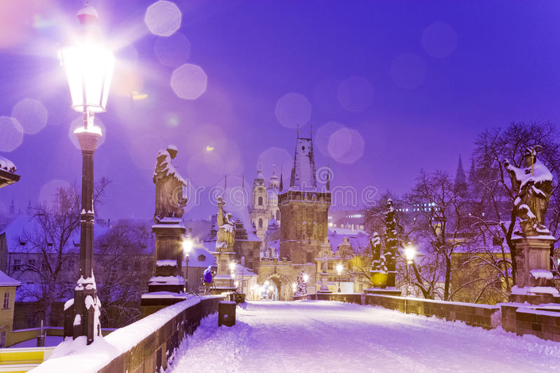 Карлов мост, меньший городок, Прага (ЮНЕСКО), чехия стоковое фото