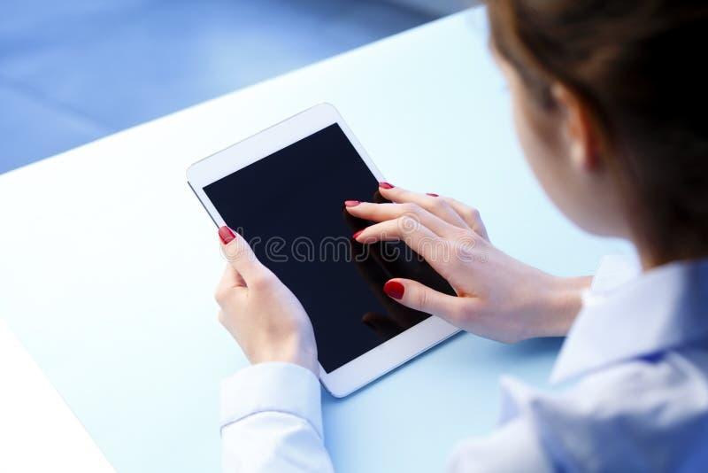 Касайтесь экрану стоковое фото rf