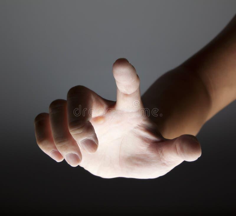 касатьться руки стоковые изображения rf