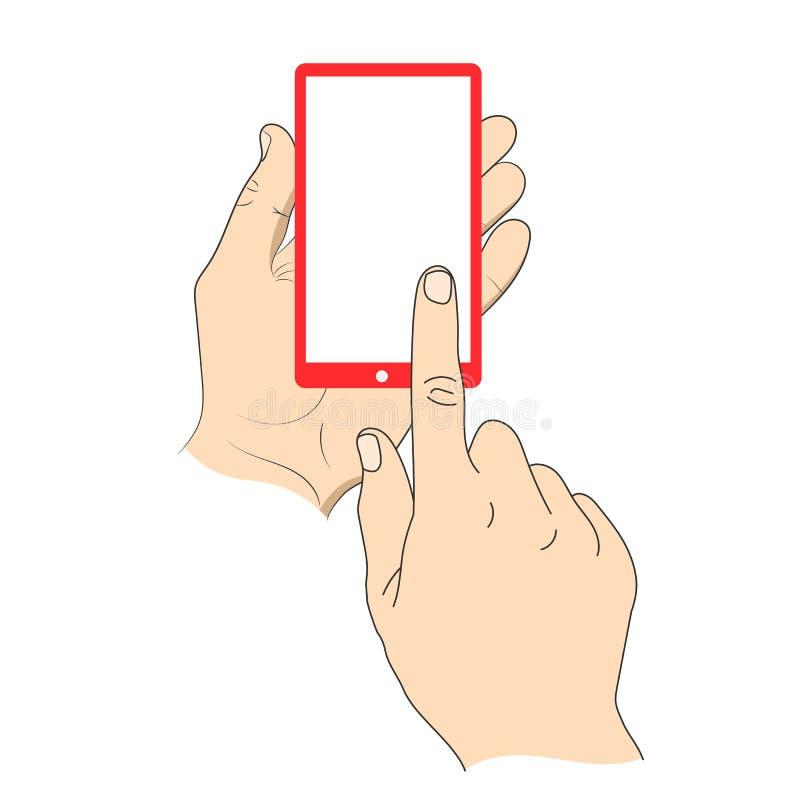 касатьться smartphone руки бесплатная иллюстрация
