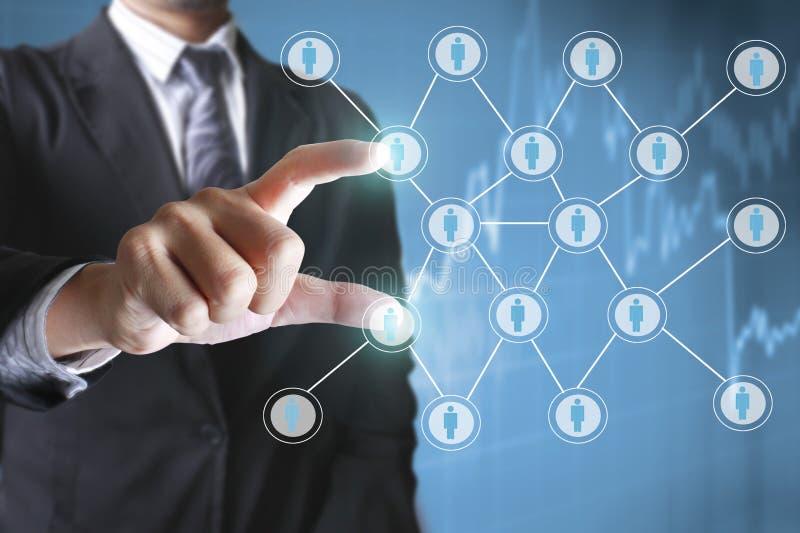 Касающая виртуальная социальная сеть бесплатная иллюстрация