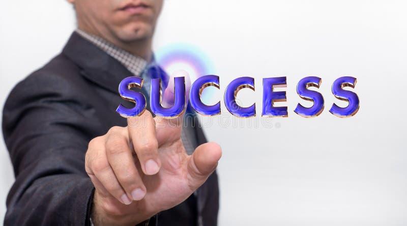 Касающее слово успеха на воздухе стоковое изображение