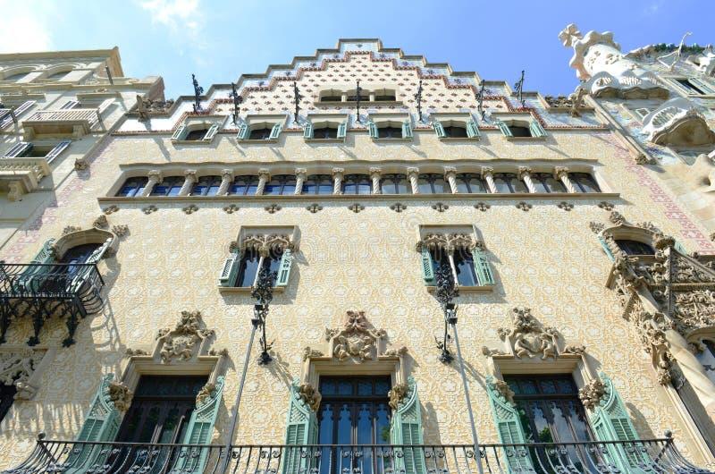 Каса Amatller, Барселона, Испания стоковые фотографии rf