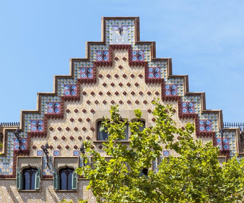 Каса Ametller - Барселона Испания стоковое фото rf