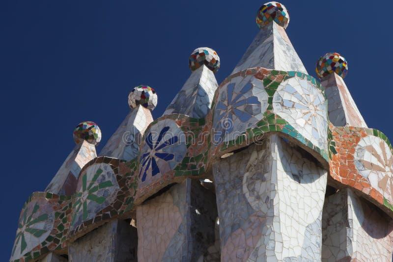 Каса Batllo в Барселоне (Catalunya, Испании) стоковое фото